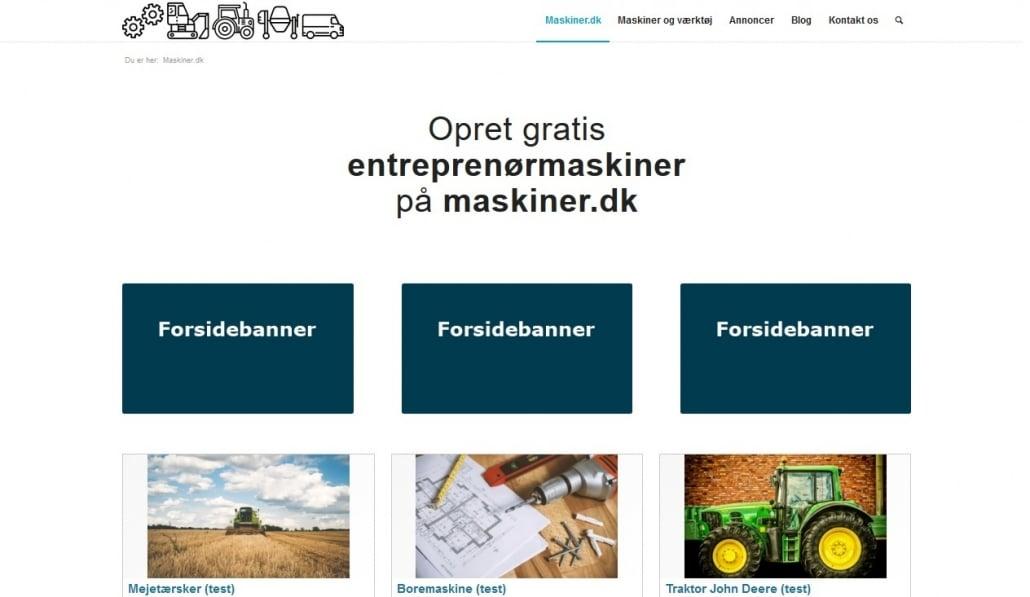 Forsidebanner - Eksempel - Maskiner.dk