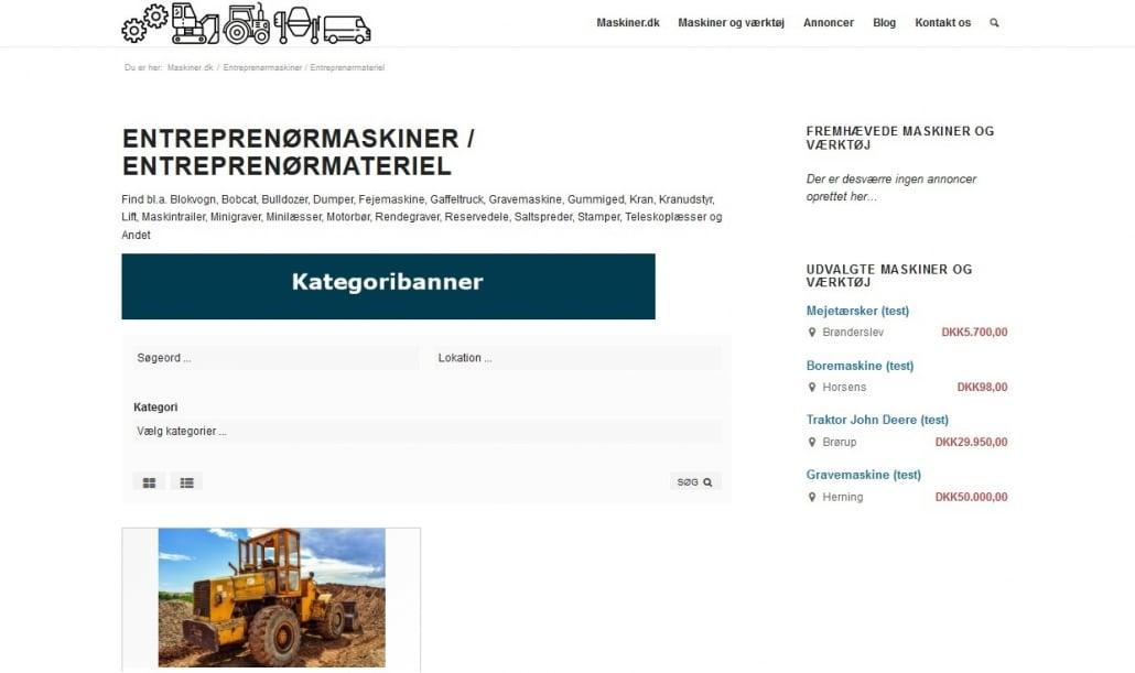 Kategoriebanner - Eksempel - Maskiner.dk
