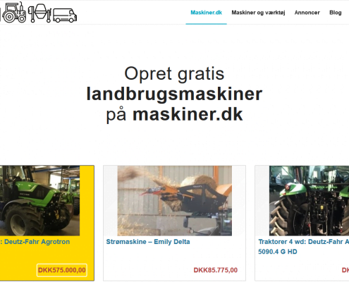 Maskiner - Landbrugsmaskiner - Entreprenørmaskiner - Sælg gratis